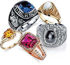 rings class rhodium personalized school graduation plated high s college women celebrium