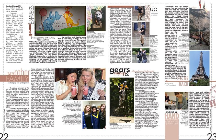 Check Out A High School Yearbook Layout That Showcases Activities
