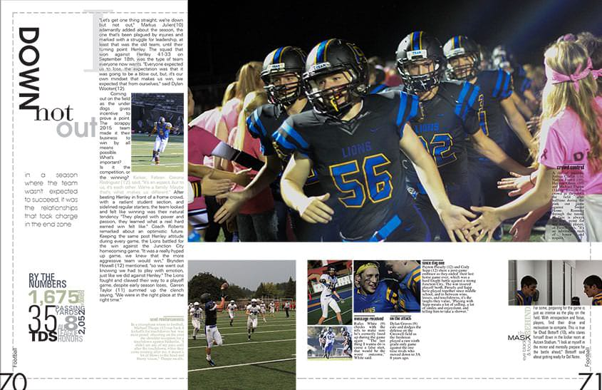 Yearbook Teacher And Yearbook Staff Come Up With A Creative Yearbook Layout