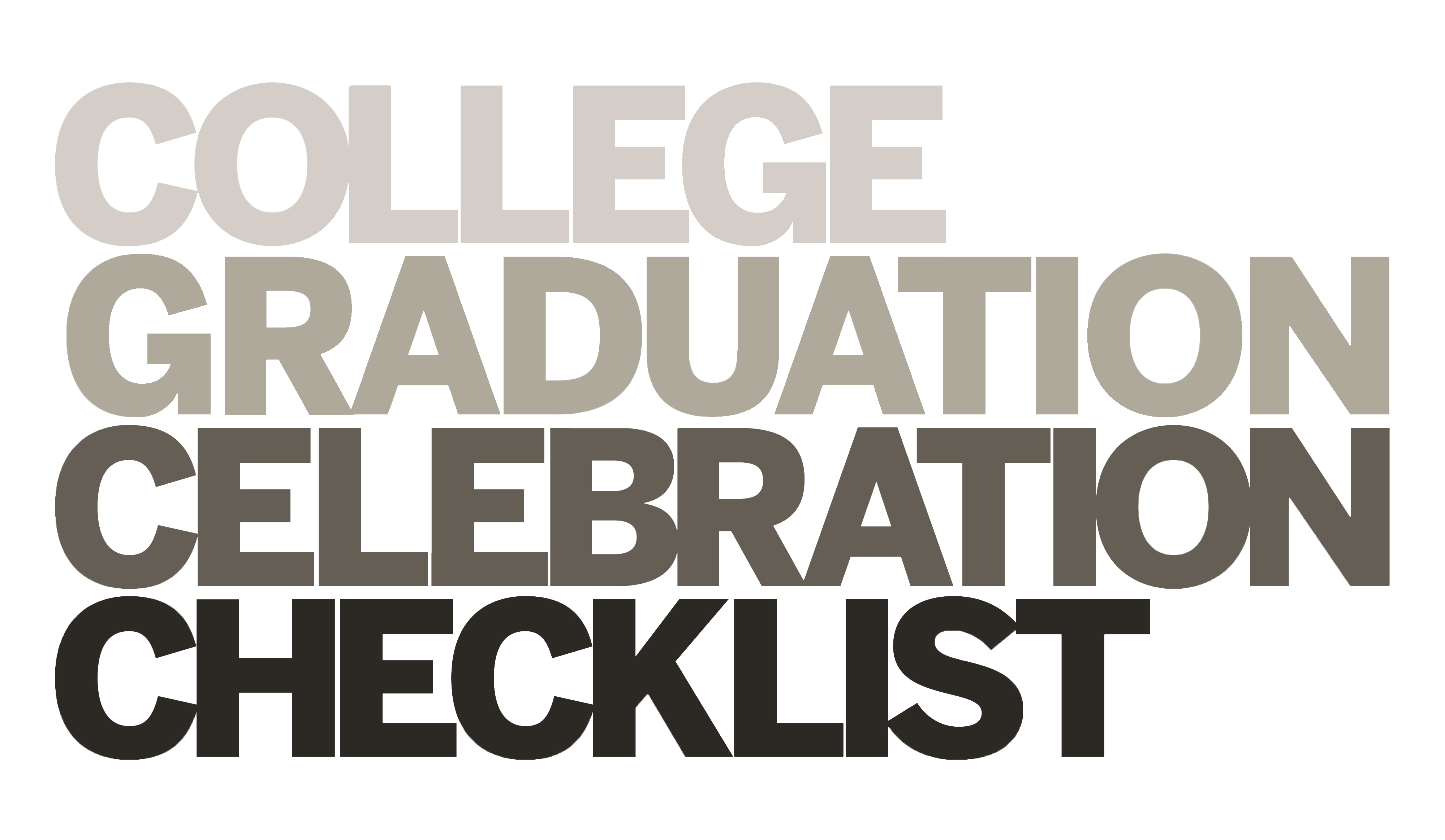 College Grad Checklist