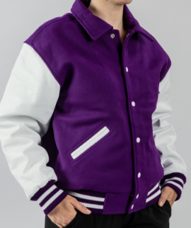 purple white jacket